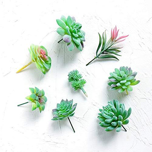 BBGSFDC 8 plantas suculentas artificiales, plantas suculentas decorativas sin maceta, de aspecto realista.