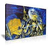 YES ART Iron Maiden Poster Leinwand Bild Kunstdruck 46 x 31