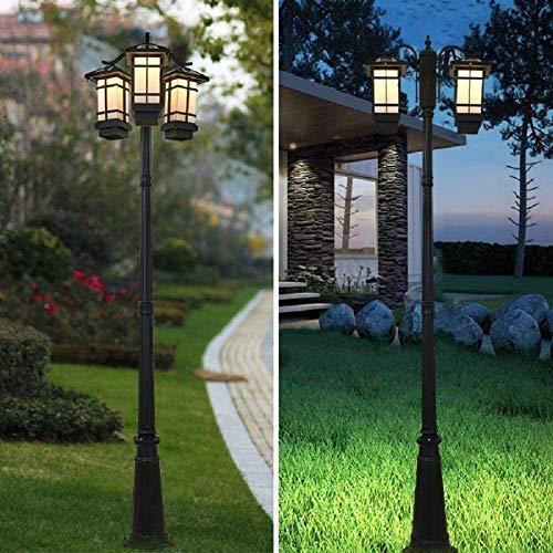 Lampada da giardino a colonna Lampada industriale moderna per esterni impermeabile LED solare ad alto palo Lampione stradale in alluminio antipioggia in metallo Luce a palo per parco Passerella per pr