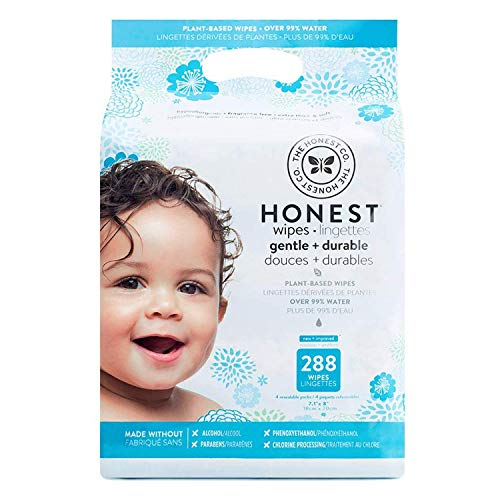 The Honest Company Baby Wipes - Pure and Gentle Plant-Based Alcohol, Fragrance...