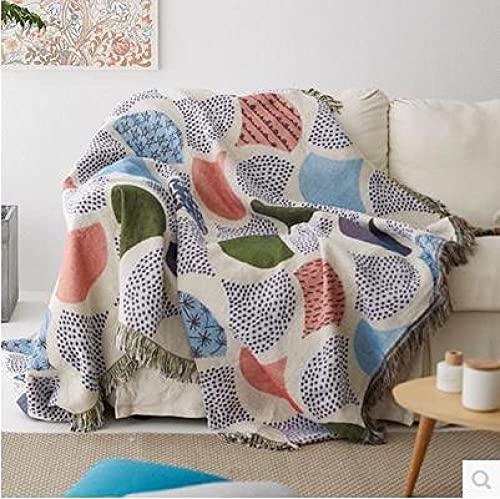 haoyunlai Camping Beach Blanket Decor Sandfront cotton line fabric sofa cover non-slip sofa blanket summer air-conditioned blanket-Sofa towel 01_180 * 230cm