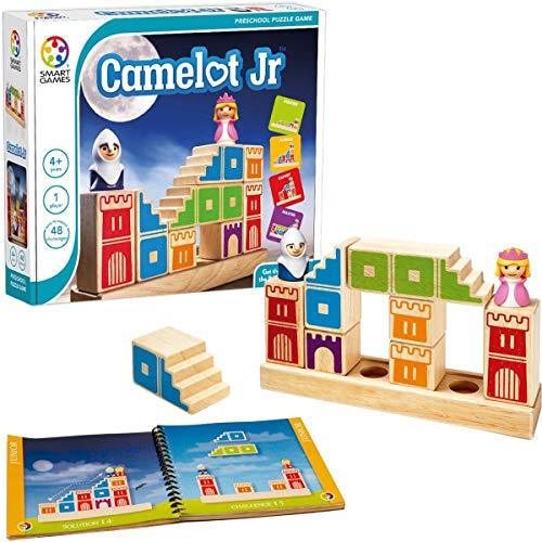 Games-Sg031Es Smart Games-Camelot Jr, Educativo, Juegos Preescolar, Juguetes Infantiles, Regalo Niños, Puzzle Madera, multicolor, Talla Única (Lúdilo SG031ES)