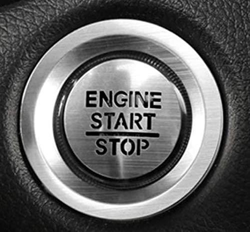 ホンダ専用高品質 エンジンスタート スターターリング アルミカバー Accord内装カスタムパーツ アクセサリーキズ防止防塵 取り付け簡単 車種専用設計2 pcsセット(シルバー)適合ホンダ オデッセイ RC1、2系(2013年11月~?行)N-BOX J
