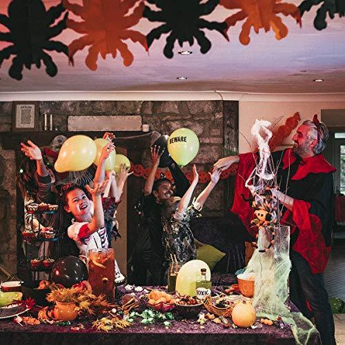 Jinlaili Striscione Halloween, 5 Pezzi di Banner di Halloween, Striscioni di Halloween Appesi Decorazioni, Pipistrello di Zucca Teschio Ragno Fantasma Impostato per Halloween Spaventoso Decor