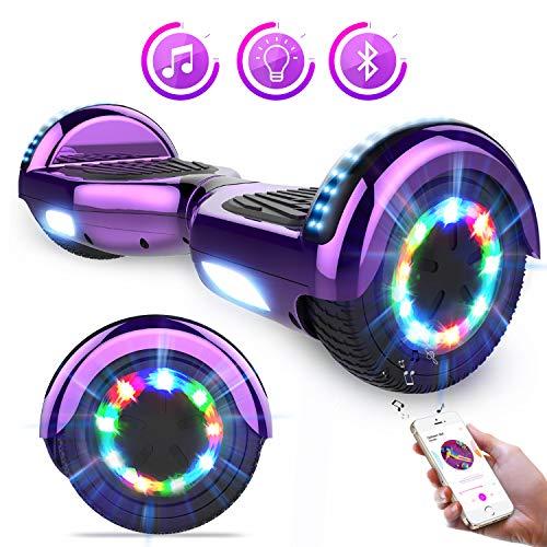 Kategorie <b>Zweirad E-Board (Hoverboard) </b> - GeekMe Self Balance Scooter Elektro Scooter 6.5'' Elektroroller mit Bluetooth Cool LED-Leuchten