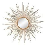 30' Gold Spoked Sunburst Wall Accent Mirror