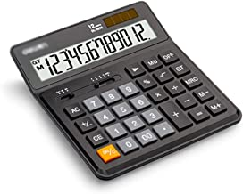 $36 » Desktop Calculator 12 Digit with Large LCD Display Solar Battery Dual Power Electronic Calculator Perfect for Office Home...