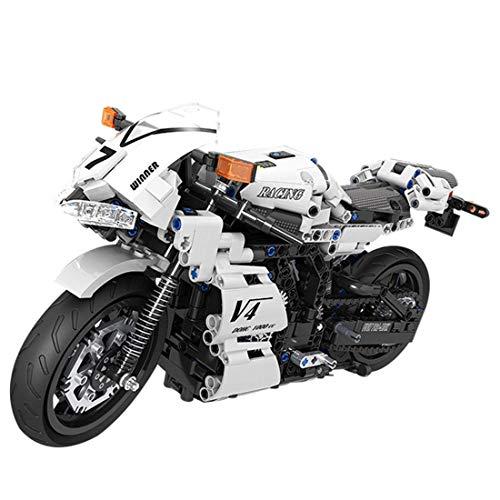 CYGG Kit de construcción de Motos Technic, 716pcs 1: 6 Bloques de construcción de Motocicletas de Carreras Modelo de exhibición Superbike para Adultos, niños compatibles con Lego
