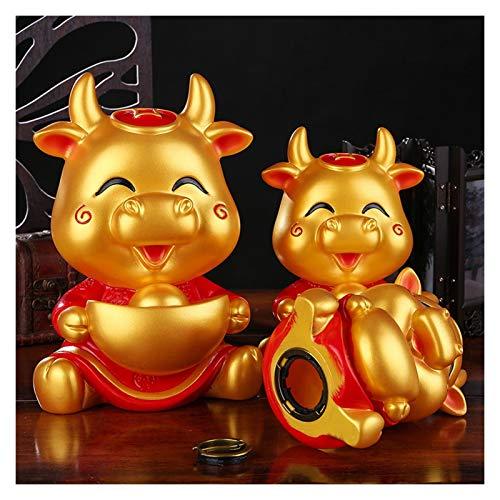 Decoración de Regalo Año Nuevo Decoración de la Banca Piggy Bank Kids Toys China Festival de Primavera Decoración Detalle Cajas de Ahorro de Dinero Lindo cumpleaños (Color : S)