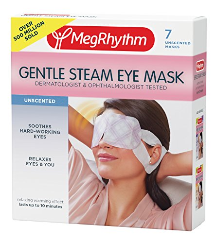 MegRhythm Gentle Steam Eye Mask, Unscented, 7 Count