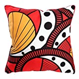 marque The Home Deco Factory Coussin Wax 40x40 cm Rouge