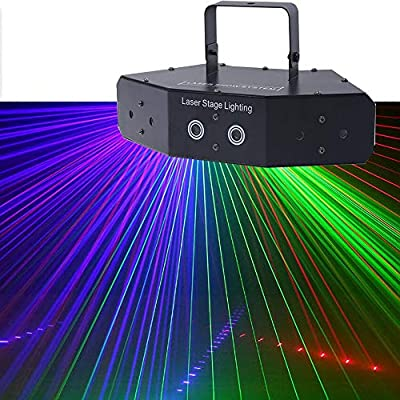 Six-Eye Fan Beam Light, Voice-Activated Disco Stage Lights, Concert Lighting Equipment
