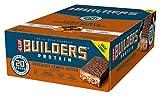 clif bar, builders protein bar, barrette al cioccolato e burro di arachidi, 12 x 68 g