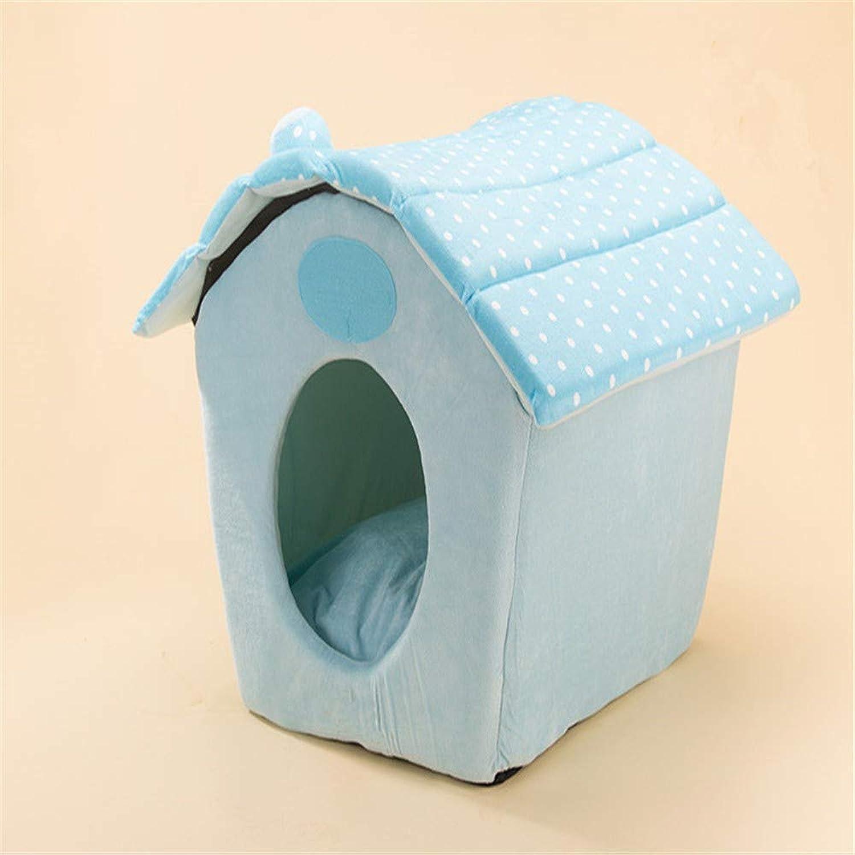 Small Pet House Dog Dot Polka Outdoor Indoor Portable