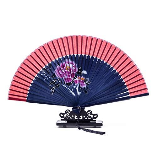 Yoking Estilo chino Floral Portátil Plegable Fan Danza temática fiesta decoración Festival suministros de danza