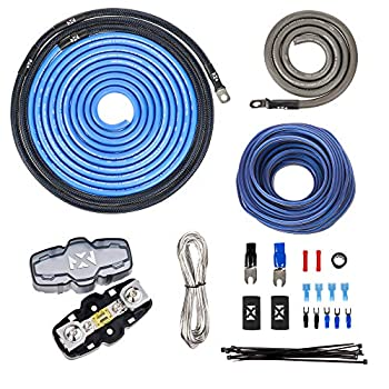 NVX XAPK4 True Spec 4 Gauge 100% Copper Single Amp Wiring Kit with Speaker Cable No RCA