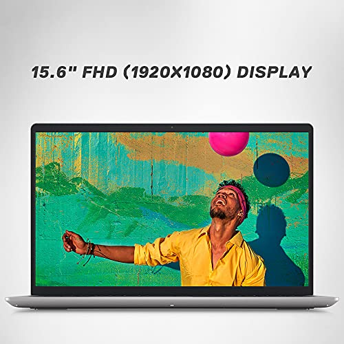 """Dell 15 (2021) i5-1135G7 Laptop,8Gb RAM,1TB HDD + 256Gb SSD,15.6"""" (39.62 cms) FHD Display, Win 10 + MS Office,Nvidia 2GB MX350 Graphics,Backlit KB, Platinum Silver Color (Inspiron 3511, D560505WIN9S)"""