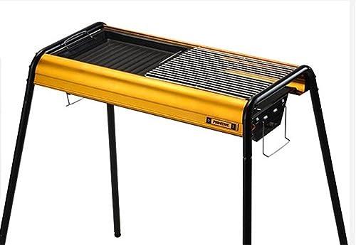 BBQER-A Cuisinière à charbon portable à barbecue portable Grillière à gaz en acier inoxydable plus épais - Trois couleurs avec hauteur réglable