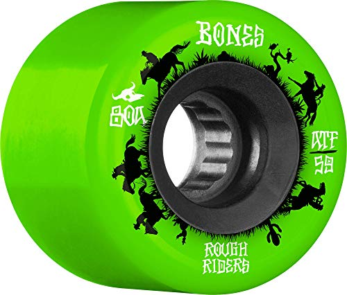 BONES WHEELS Rough Riders • Wranglers • 59mm • Green, WSCPRR045980G4, WSCPRR045980G4, WSCPRR045980G4, WSCPRR045980G4