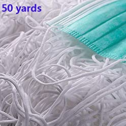 10m High Elastic Earloop Stretch Bands Knitted Elastic Cord Sewing Thread Elastic String DIY Craft Clothing Sewing Thread 10.93 Yard