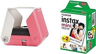 Kiipix E72753 Smartphone Drucker Cherry Blossom E72753US & Fujifilm Instax Mini Instant Film, 2X 10 Blatt (20 Blatt), Weiß
