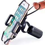 Bike & Motorcycle Phone Mount - for iPhone 12 (11, SE, Xr, Plus/Max), Galaxy S20 or Any Cell Phone - Universal Handlebar Holder for ATV, Bicycle and Motorbike. +100 to Safeness & Comfort