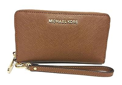 Michael Kors Giftables Jet Set Travel Flat Leather Phone Case