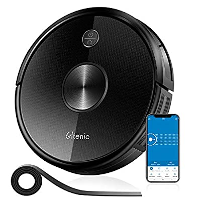 Ultenic D5 Robot Vacuum Cleaner, Wi-Fi & Alexa Control, 2200Pa Max Suction,Super-Thin,Auto Carpet Boost, 600ML Large Dustbox, Self-Charging Robotic Vacuum Cleaner, for Pet Hairs Hardwood and Carpets
