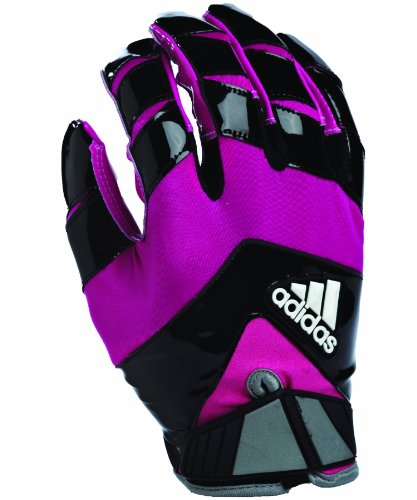 adidas Crazy Quick Football Receiver Gloves, X-Large, Black/Pink