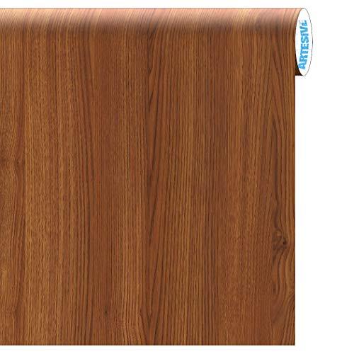 Artesive WD-020 Rovere Medio larg. 122 cm AL METRO LINEARE - Pellicola Adesiva in vinile effetto legno per interni per rinnovare mobili, porte e oggetti di casa