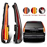 MOSTPLUS LED Tail Lights Rear Lamp Compatible for 2007-2014 Chevy Tahoe Suburban GMC Yukon Denali Set of 2