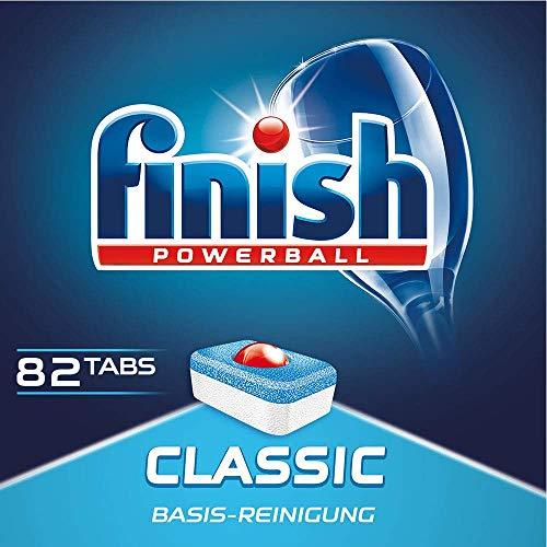 Finish Classic Spülmaschinentabs, phosphatfrei – Geschirrspültabs mit Powerball für die Basis-Reinigung des Geschirrs – Großpackung mit 82 Finish Tabs