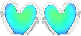 Fun Bling Large Sunglasses Glittered Oversized Heart Frame Beach Party Costume