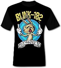 ETJIJCKDI Mens Blink 182 Fu Since 92 T-Shirt Short Sleeve Tee Shirts