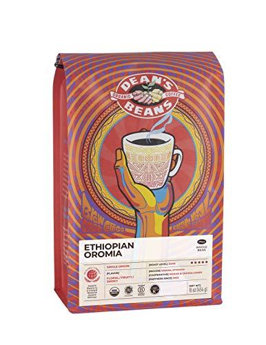 Dean's Beans Organic Coffee Company, Ethiopian Oromia Single Origin, Whole Bean, 16 Ounce Bag (Organic, Fair Trade and Kosher Certified)