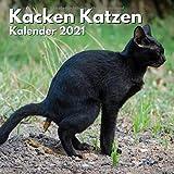 Kacken Katzen Kalender 2021: Katzenkalender lustig für Katzenliebhaber