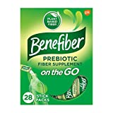 Benefiber On the Go Prebiotic Fiber Supplement Powder for Digestive Health, Daily Fiber Powder, Unflavored Powder Stick Packs - 28 Sticks (3.92 Ounces)