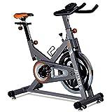 XJWWW-URG La bicicleta estática cubierta ciclo de la bici, inmóvil de la aptitud con todo incluido volante de bicicleta con resistencia de gimnasio en casa Cardio entrenamiento del entrenamiento de la