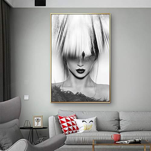 yhyxll Abstrakte Wald Wandkunst Leinwand Malerei Modell Nordic Poster Bilder Für Wohnzimmer Bilder Drucke Frauen Landschaft Ungerahmt 40X50cm