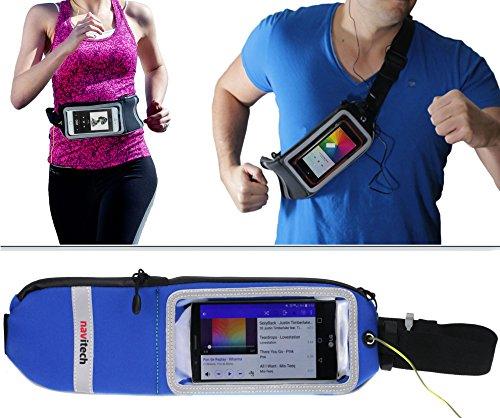 Navitech poche-ceinture Bleu sport jogging randonnée, idéal compatible avec LG Nexus 5X
