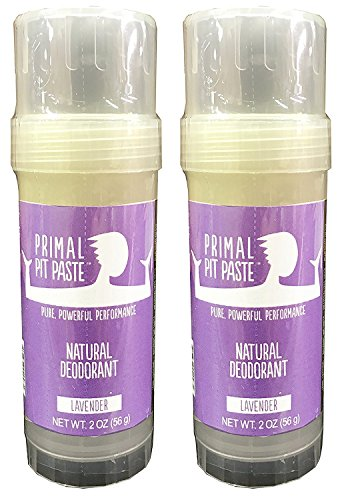 Primal Pit Paste Natural Deodorant Lavender Pack of 2