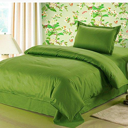 Premium hochwertig einfarbig Bettwäsche-Sets Bettdecke uni 100{e6b110fffb432a4008231218768f93a7e7d1483994c14b76ab0d6de2275fa202} Baumwolle Winter Bettgarnitur / Kissen Bezüge (grün)