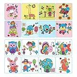 Giocattoli artigianali 8pcs / set di dito carta di pittura 6 colori inchiostro tampone timbro cartone animato animali fai da te artigianato apprendimento educazione disegno giocattoli per bambini bamb