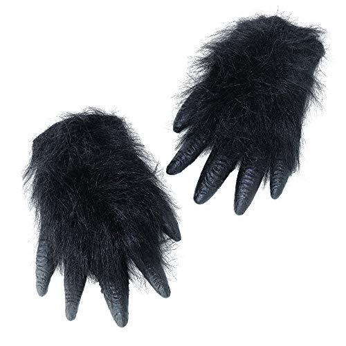 Bristol Novelty BA104 Gorilla Hände, Unisex– Erwachsene, schwarz, Einheitsgröße
