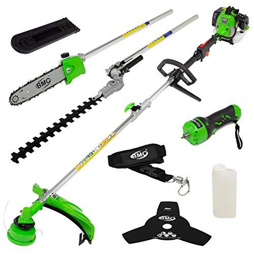 BMC G-Whizz Electric Start Garden Multi Tool Petrol - Grass/Hedge Trimmer, Brush Cutter & Chainsaw