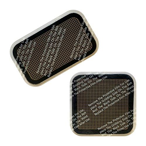 Plastimea EMS Bauchtrainer: Ersatz Gelpads Bauchmuskelgürtel Meabelt 1000 Ersatzset mit 3 Ersatz Gelpads/Patches Kontakt - Elektrodenpads