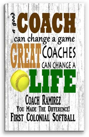 Broad New Shipping Free Bay Personalized Phoenix Mall Softball Coach Sign Rustic Team for Gift