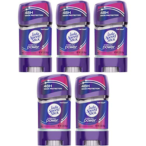Lady Speed Stick 48HR Antiperspirant Deodorant Gel Fresh Fusion 2.30 oz (Pack of 5)