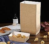 KAHEIGN 100 Piezas Mini Cajas De Pastel De Pan, Moldes Para Hornear De Papel Desechables Papel Reciclable 100% Natural Moldes Marrones Para Muffins De Pan De Tortas - 15 x 9,5cm