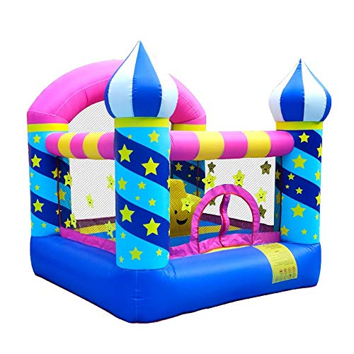 Bouncy Castle Kids Inflatable Bounce House Jumping Castle Trampoline Slide With Blower Outdoor Durable Sewn With Thick Material For Kids 225x220x215cm Playhouse Bouncer